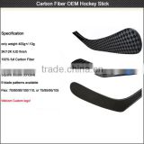 China hockey sticks 3K/12/UD Carbon Fiber OEM hockey sticks composite Senior / Intermadiate/ Junior / Goalie