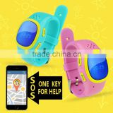 Fashionable Children smart watch phone kids GPS tracker global wrist watch gps tracking device for kids