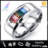 wholesale alibab jewelry fashion rings 316L stainless steel changing color mood ring                                                                         Quality Choice