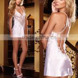 Women Lingerie Babydoll Chemise Pyjama Dress Sleepwear Nightwear Lace Satin