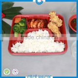 Eco friendly food grade disposable blister Plastic Storage Bento Boxes,wholesale Chinese meal prep tray