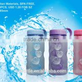 beautiful tritan 550ml bottle bpa free spots plastic bottle water bottle