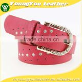 Women's fashion rhinestone studded belt with shiny gold rhinestone buckles in yiwu
