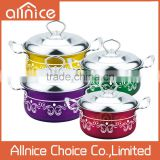 wholesale color printing decal design kitchenware stainless steel/cookware set/kitchen ware