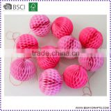 Fashion Honeycomb Ball Tissue Paper Tassel Garlands