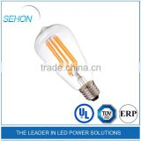 e27 12 volt led filament bulbs 2700k 3000k st64 french pendant light for restaurant 4w/6w/8w