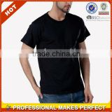 Bulk Blank Cheap Plain Black T-shirts Wholesale (YCT-C0380)