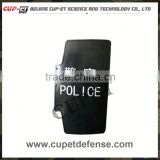 nonmetal handheld bullet and riot proof shield with handle