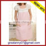 cheap wholesale free kitchen bib aprons nice design with good pattern Eco-frendly material
