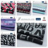 Jiufan Textile Soft Pigment Alphabet Letter Printed Single Jersey Cotton Spandex Knitting Fabric For Lady Garment                                                                         Quality Choice