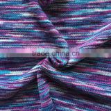rayon polyester spandex multi color cable knit hacci slub sweater fabric for garments