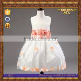 new design butterfly beautiful puffy kid flower girl dresses