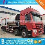 HOWO 8cbm bitument asphalt tank and 12cbm gravel bucket synchronous chip sealer,asphalt mixer truck
