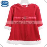 (H4580) 3-36m nova kids baby winter dresses christmas baby girls wedding dresses children's clothings