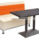Sanlang factory fast food double side fabric modern design comfotable restaurant round booth seating