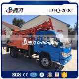 200m Dfq-200c China New Best Truck Mounted Used Bore Water Well Drillig Machine Price with Air Compressor