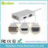 Thunderbolt Mini DisplayPort DP to HDMI VGA DVI Adapter Cable for Apple 3 in 1