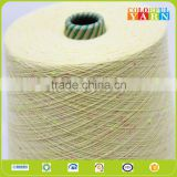 open end cotton polyester colored dot yarn