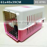 48.4X31.8X30.3CM Size Plastic Cage/Carrier, Suitable to Cats, Small dogs or Other Animal, Five sizes to optional, Eay clean