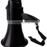 talk and siren switch megaphone with sliding volume control+folding handle+nice carry strap