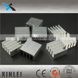 Extrusion aluminum profile heatsink processed with deep drawing 17X17X10MM