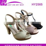 Trendy latest women sandal shoes high heel sandals with reasonable price and good quality