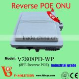 New Model Network Fiber Optical ONU Terminal Modem Equipment Unit 8FE+Reverse PoE Waterproof GEPON -30~60 Centigrade