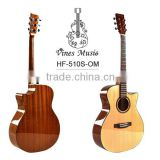import 40inch solid spruce top cutaway acoustic guitar china