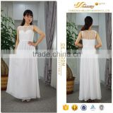 Chaste elegant white summer date dinner night clubwear boho long casual dress for beach party
