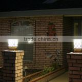 Outdoor Garden Solar Led Post Deck Cap Square Solar Fence Post Lights