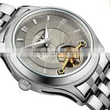 new arrival luxury own brand automatic mechanical wrist all stainless steel watch men
