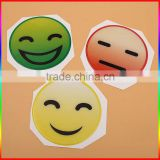 Wholesale best price custom smile face sticker, adhesive clear dome epoxy resin sticker, cartoon epoxy sticker