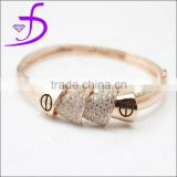 Stunning 925 Sterling Silver Micro Pave Setting Cubic Zirconia gold bangles latest designs