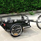 Aosom Outdoor Wanderer Bicycle Bike Cargo Luggage Trailer - Black