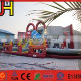 Inflatable Race Car Slide Combo, Cars Double-Lane Inflatable Slide, Car Bouncy Combo With Slide