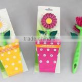 Colorful flower pattern kitchen washing dish brush