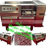commercial frozen meat cube cutter machine/beef cube cutting machine/bone in meat cutting machine