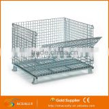 ACEALLY warehouse wire mesh container, metal box, pallet cage