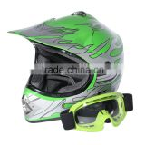 DOT Youth Green Flame for Dirt Bike for ATV Motocross Offroad Helmet MX+GogglesS M L New