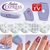 Nail art stamping kit, salon express