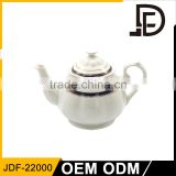 Popular cheap ceramic porcelain teapot bulk,wholesale ceramic porcelain tea pot, stoneware teapot