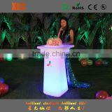 plastic LED lighitng function portable table with plastic table