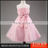 MGOO 2016 Celebration Pink Wedding Girl Dresses Flowers Cheap Price Boutique Girl Clothing MGT015-3