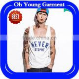 wholesale cheap custom printed tank tops for men cotton casual white motorcycle vest fitness gym stringer tank tops boys kurti