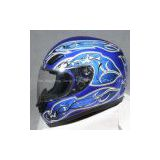 Blue Fiber Glass Racing Helmet (RX-82)