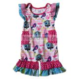 newborn baby clothes 2017 birdcage pattern flutter sleeve design romper for girls wholesale children clothing usa kids clothes