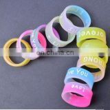 Fashion Couples Ring Candy Color Glow In The dark Ring Hand Ring Silicone Elastic Rope