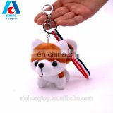 soft fashion simulation hasky dog plush toy keyring