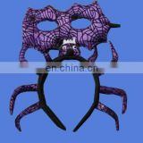 Fancy spide headband with eye mask costume dress