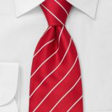 Satin Solid Colors Silk Woven Neckties Shirt Collar Accessories Red
